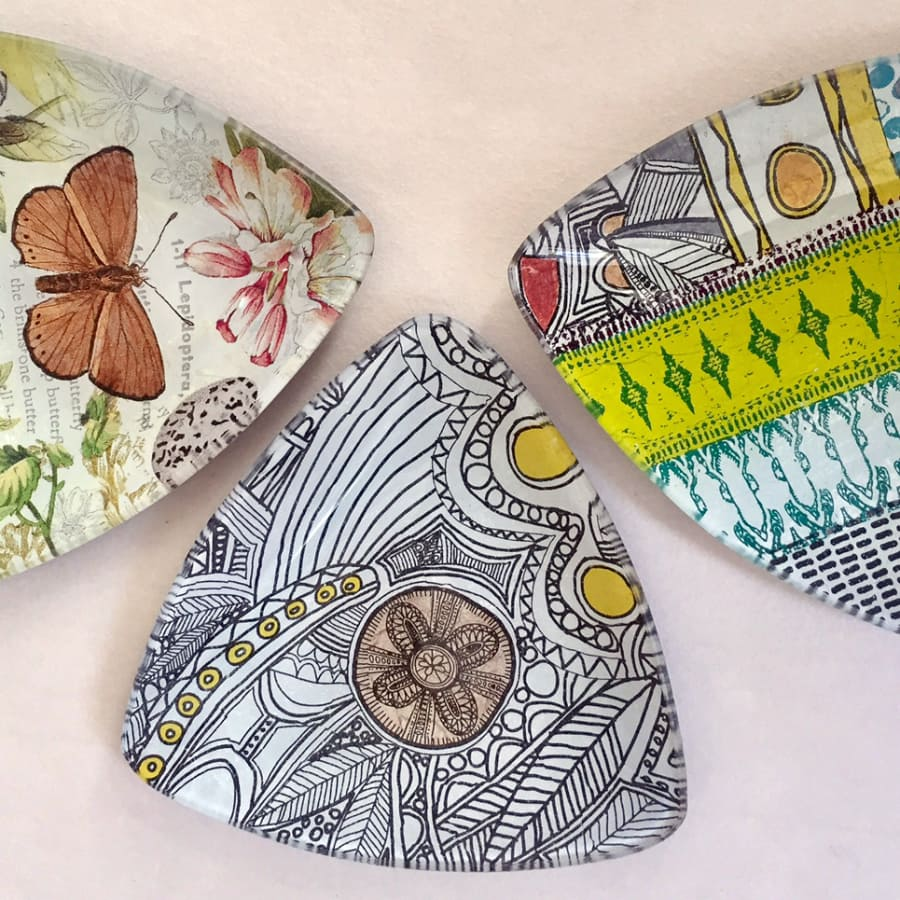 Glass Decoupage Workshop: Upcycle a Plate by Gabriela Szulman Art - crafts in London