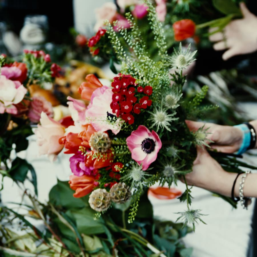 Seasonal Hand-Tied Bouquet Workshop With Complementary Drink by Lucy C Burton Flowers - crafts in London