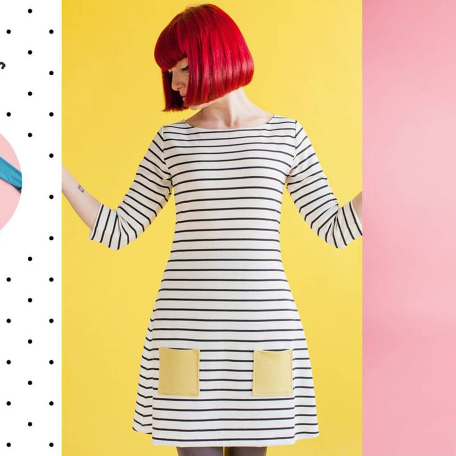 """Working with Jersey with Barley Massey & make a Tilly & the Buttons """"Coco"""" dress or top by Fabrications - crafts in London"""
