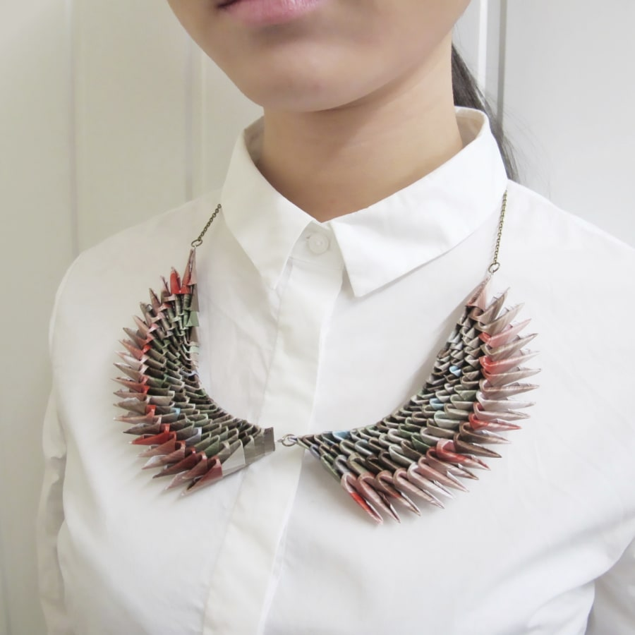 Up-Cycle Paper Into a Necklace at Obby East Village by Campbell Creative Workshop - crafts in London