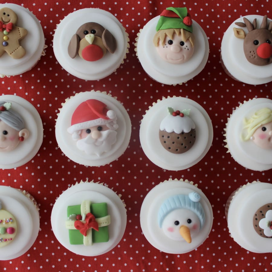 Christmas Characters Cupcake Class by Lady Berry Cupcakes - food in London