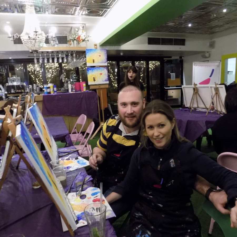 Paint Winter! by PopUp Painting - art in London