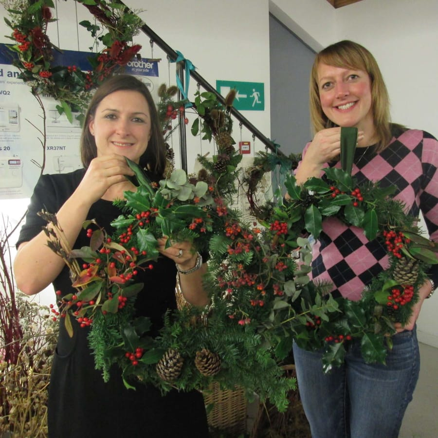 Christmas 'Wild Wreath' making workshop by Fabrications - crafts in London