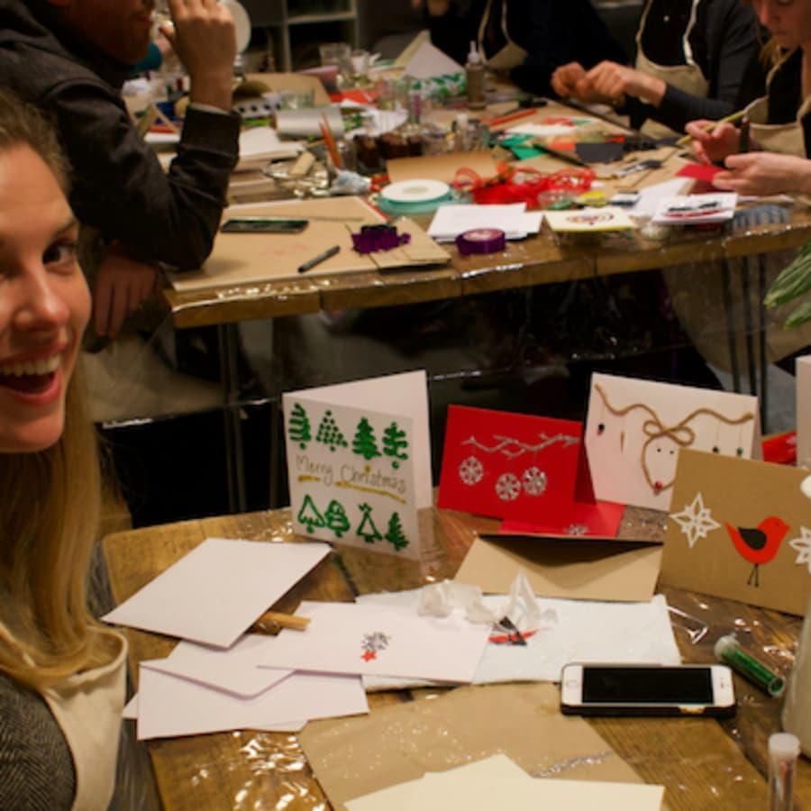 Christmas Card Making with Festive Treats & BYOB by Social Studio London - art in London