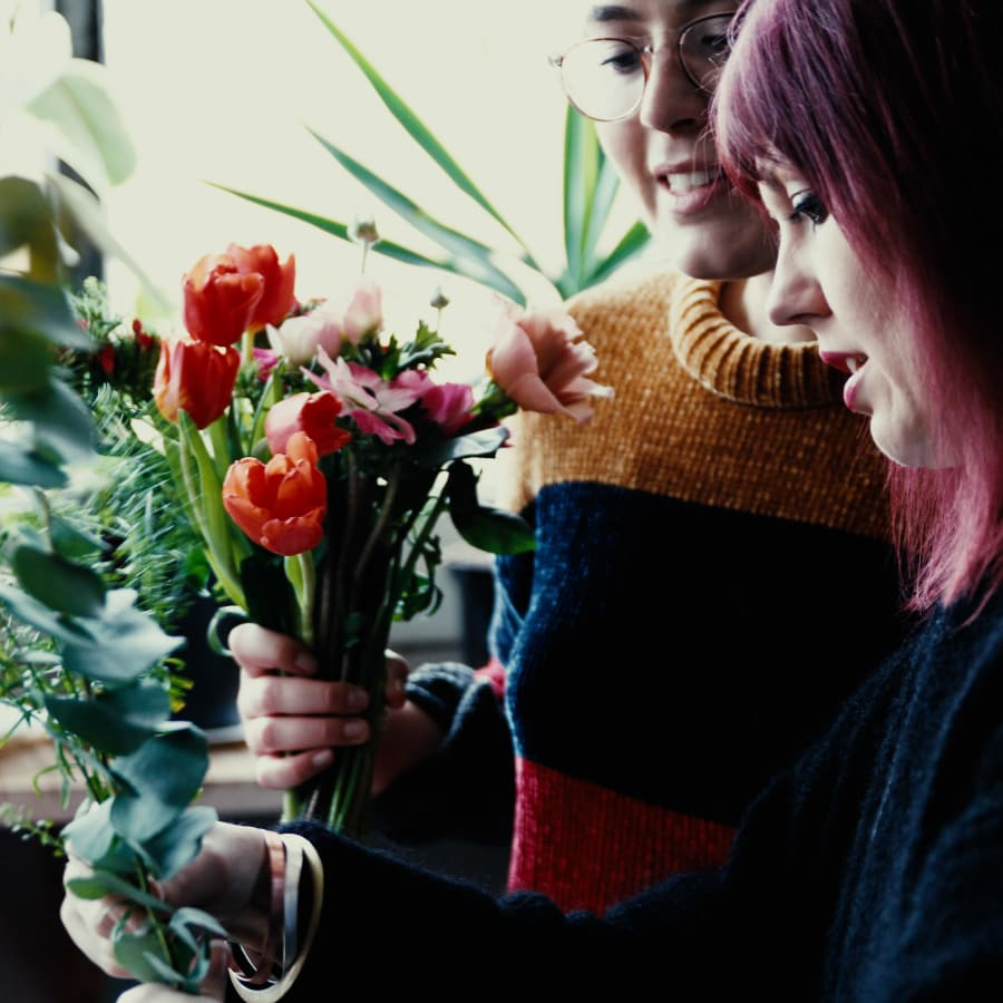 Private Seasonal Hand-Tied Bouquet Class with a Complementary Drink by Lucy C Burton Flowers - crafts in London