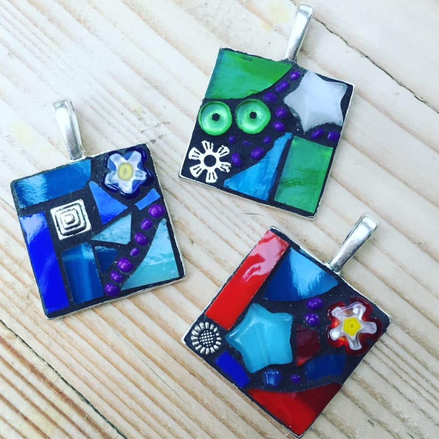 Mosaic a Pendant in an Afternoon by Cheryl Powling Stained Glass Studio - art in London