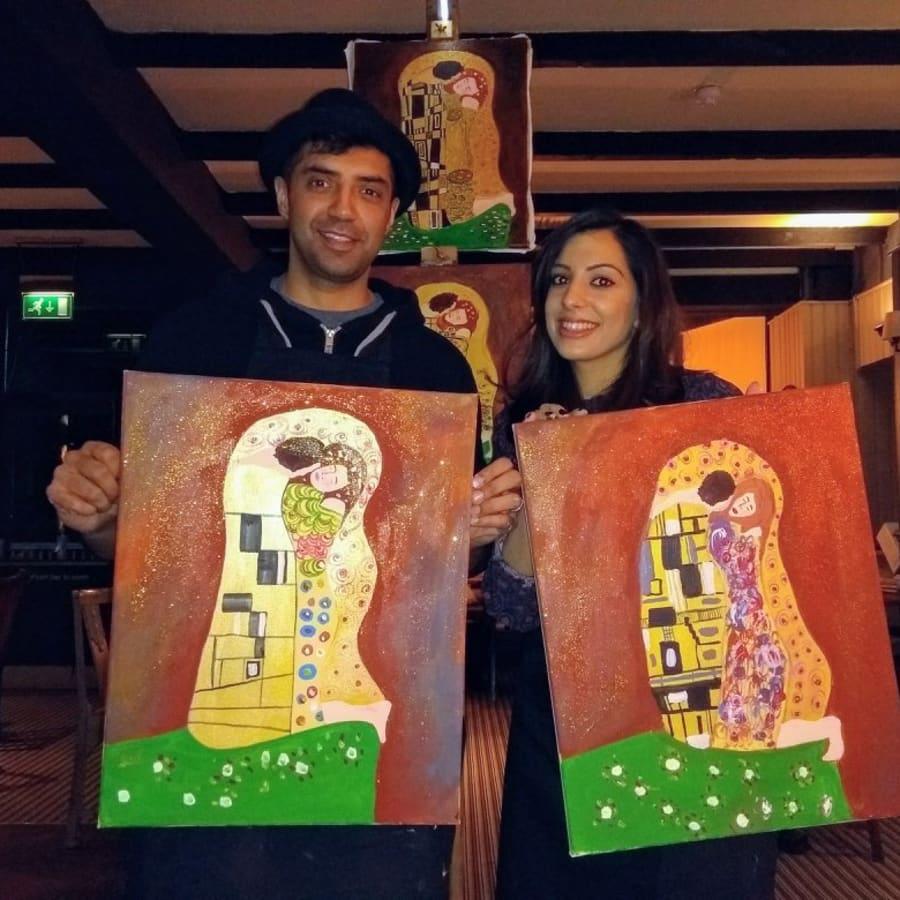 Paint like Klimt! by PopUp Painting - art in London