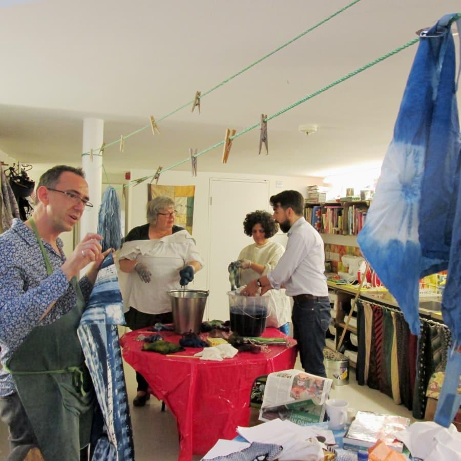 Beginners Shibori ( Itajime ) with Rob Jones by Fabrications - crafts in London