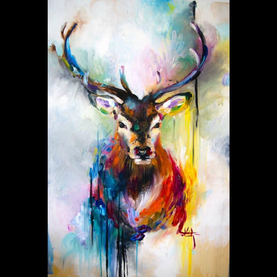 Painting Night - Deer by Studio Masterpiece - art in London