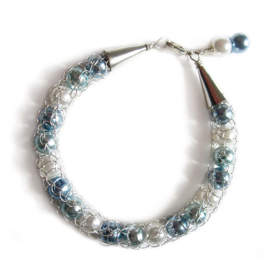 French Knitted Wire Jewellery - Make a Beaded Bracelet in a day | Obby