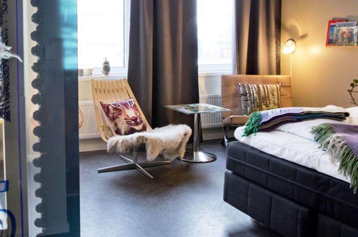 Bilde fra Oberhof-rommet på Lillehammer Vandrerhjem Stasjonen.