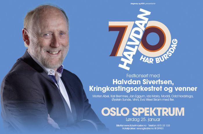Portrett av Halvdan Sivertsen med tekst som finnes ellers på siden.