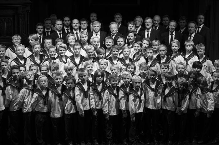 Konsertbilde av Sølvguttene