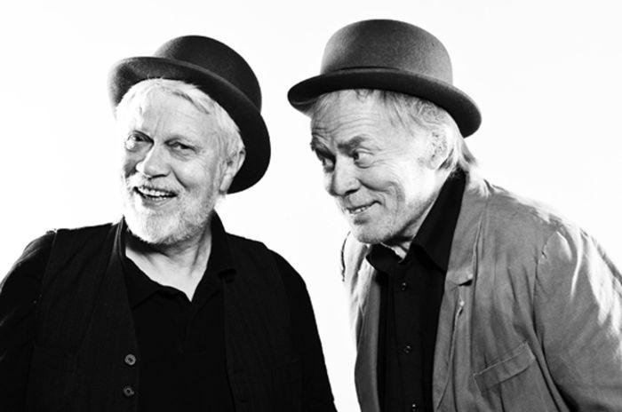 """Nils Slætta og Torgeir Fonnlid i stykket """"Mens vi venter på Godot"""", ved Teater Innlandet"""