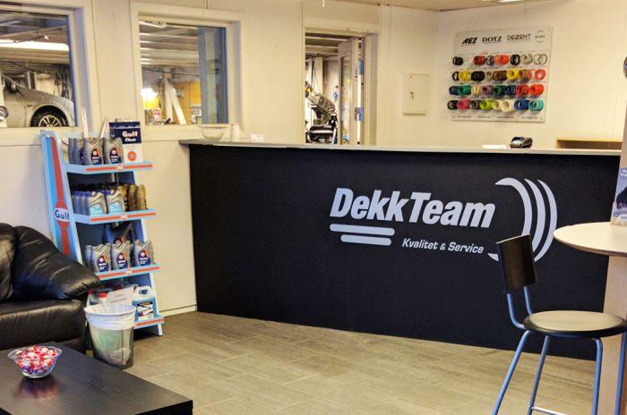 Miljøbilde fra kundemottaket til DekkTeam i Ålesund