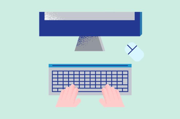 Illustrasjon av henger på et tastatur