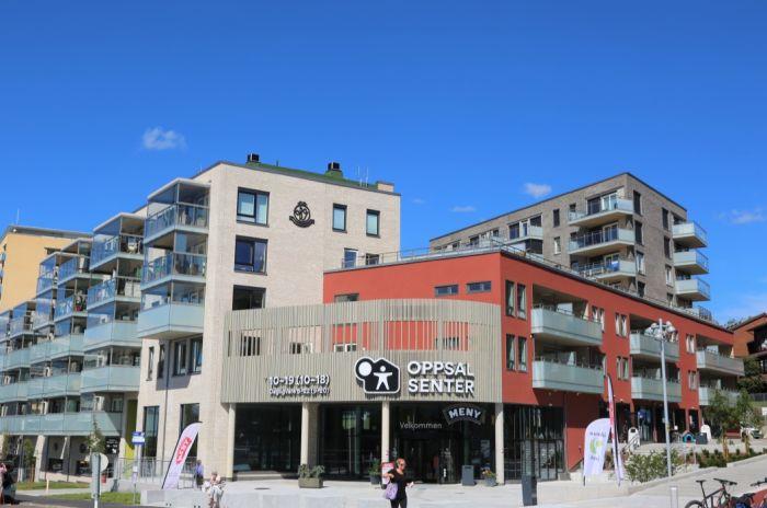 Bilde av fasaden på Oppsal senter
