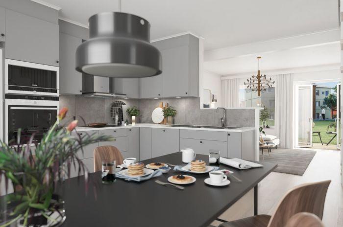 bild av kök i skandinaviskt hem