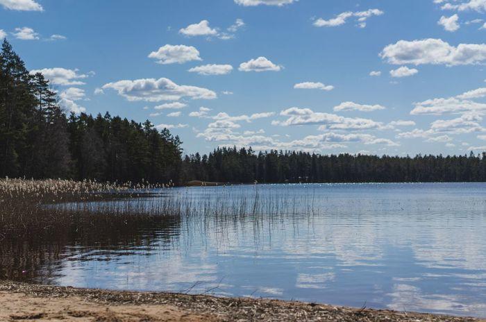 En bild på en sjö i Taberg