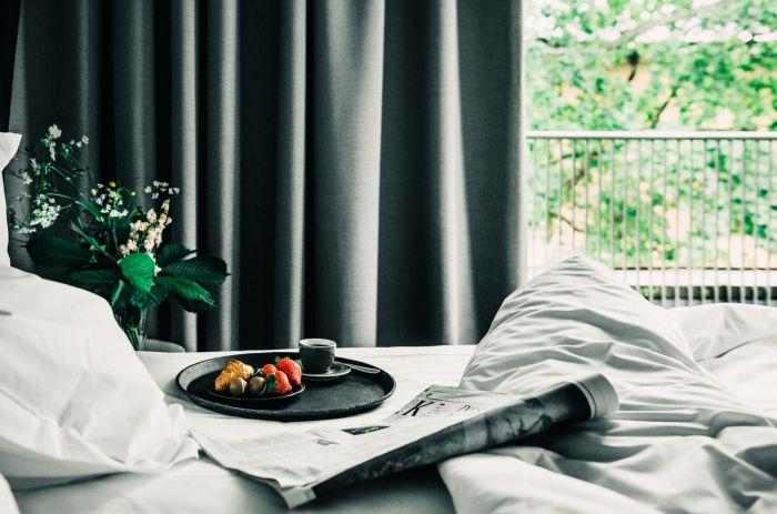 Hasselbacken Hotell frukost på rummet