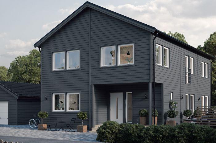grönt tvåvåningshus ifrån Smålandsvillan