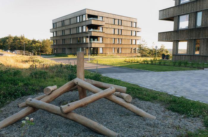 Uteområde i Lyngen borettslag i Fredrikstad