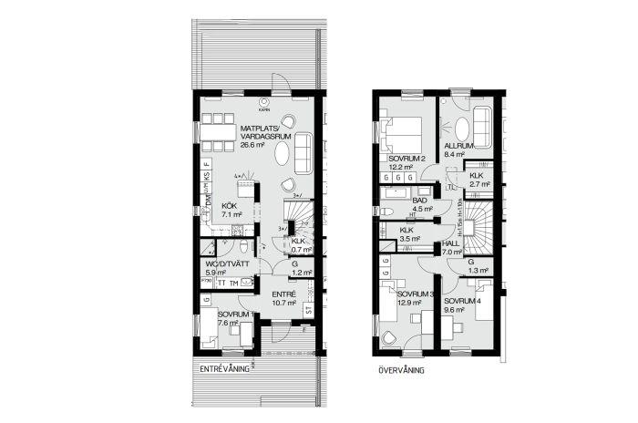 Exempel på planlösning i Brf Storseglet