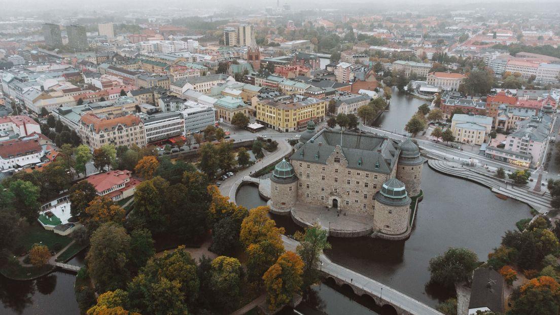 Bild över Örebro slott ovanifrån