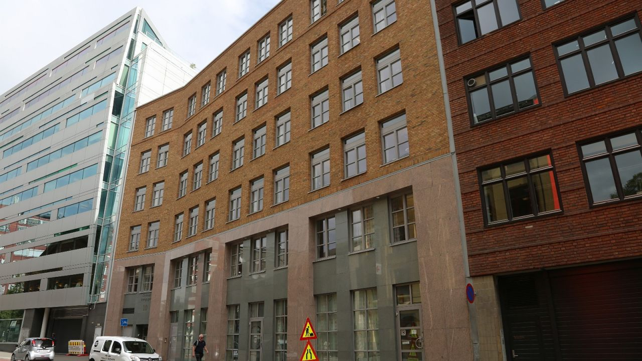 Fasade mot Chr. Krohgsgate med NHST i bakgrunnen