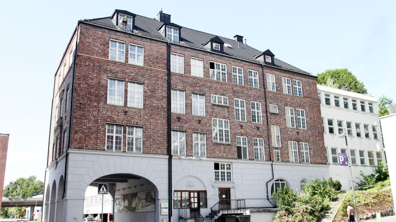 Bilde av fasaden på Turbinveien 4a i Kværnerbyen i Oslo