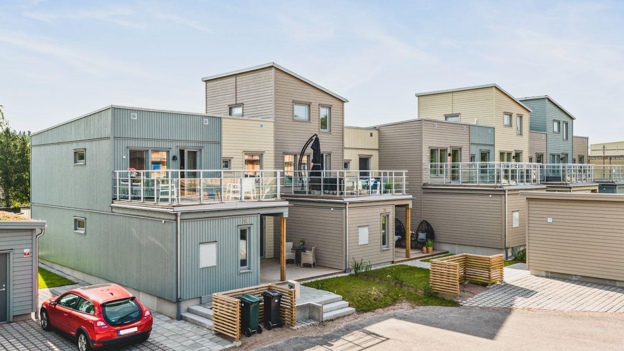 Exteriör projektetr Kv London som obos bygger i Växjö på torparängen