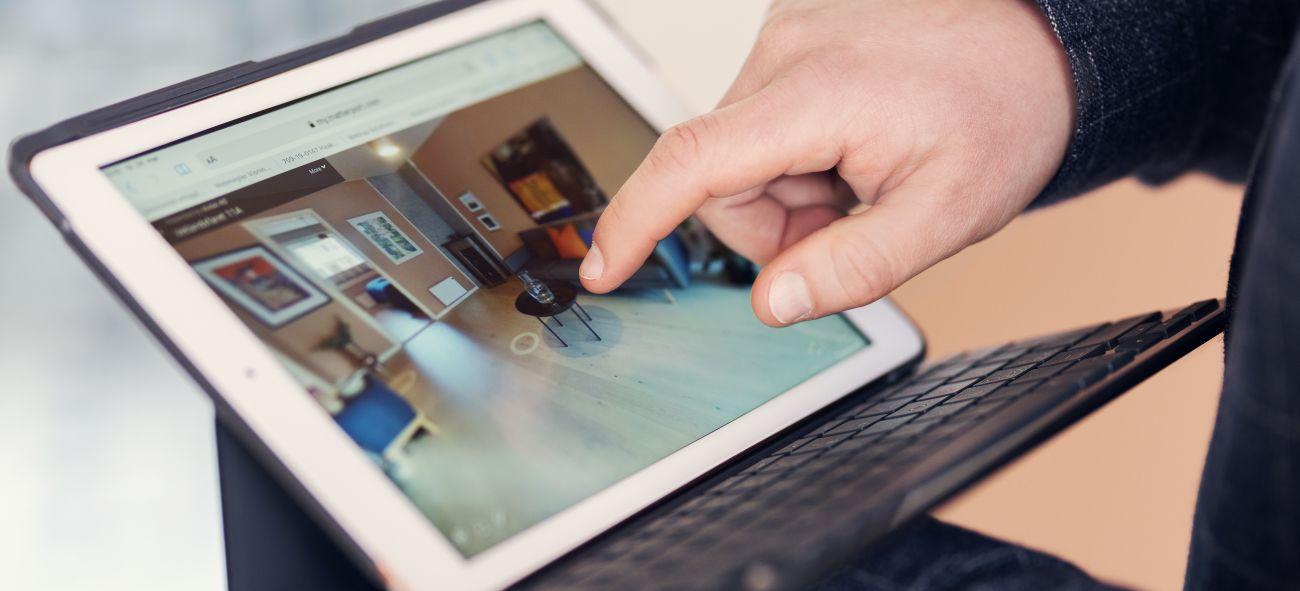 Visning av bolig på et skjermbrett