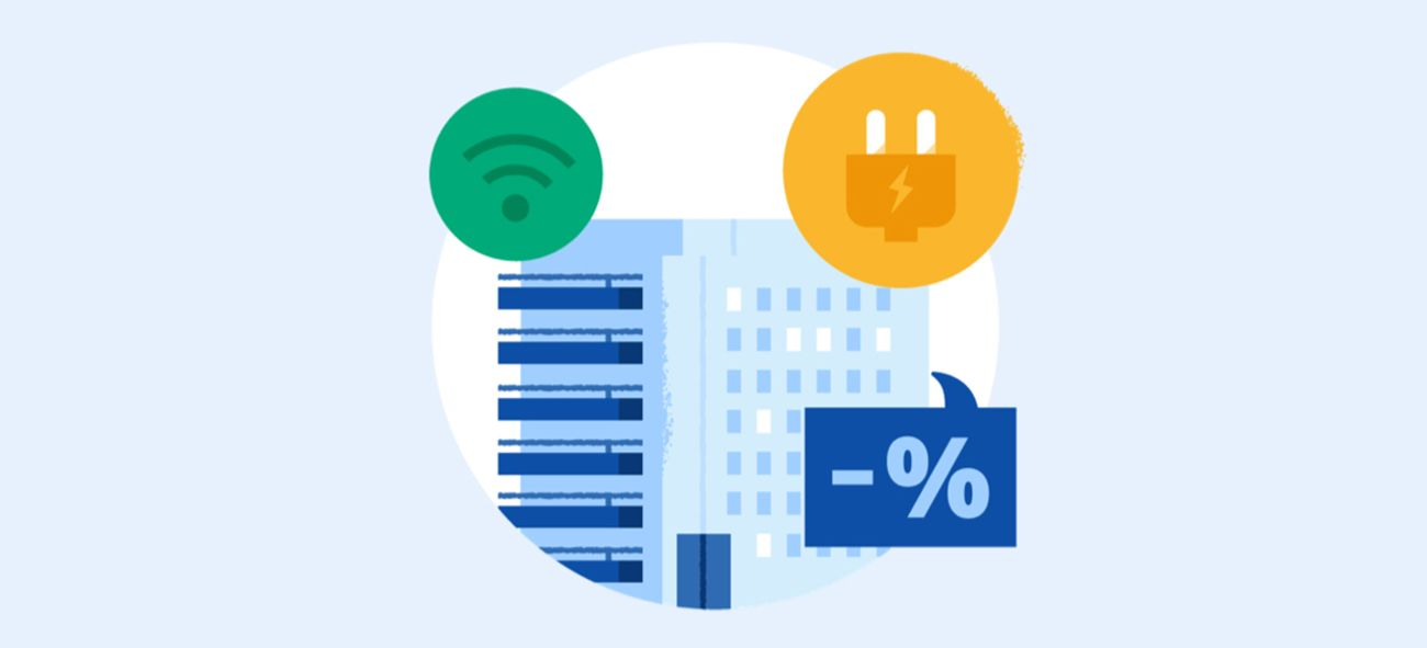 Illustrasjon av internett, strøm og andre utgifter i et sameie