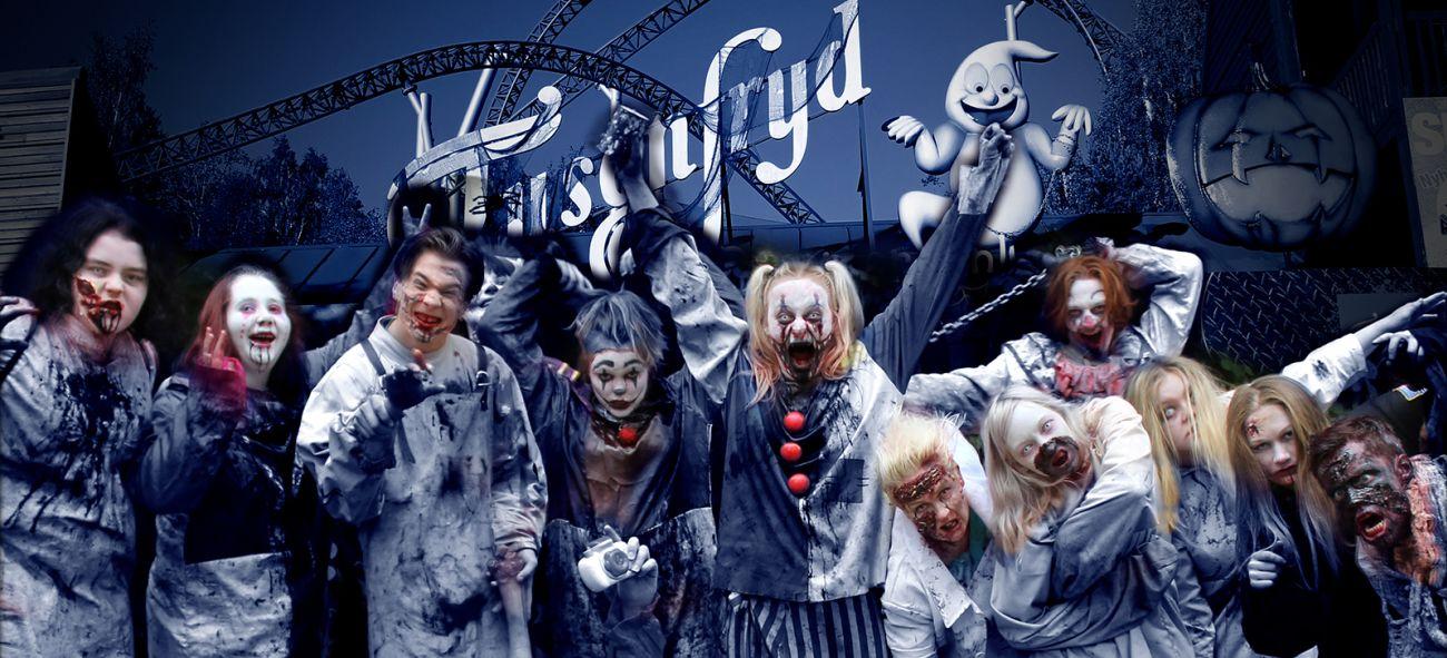 Skuespillere utkledd som Zombier