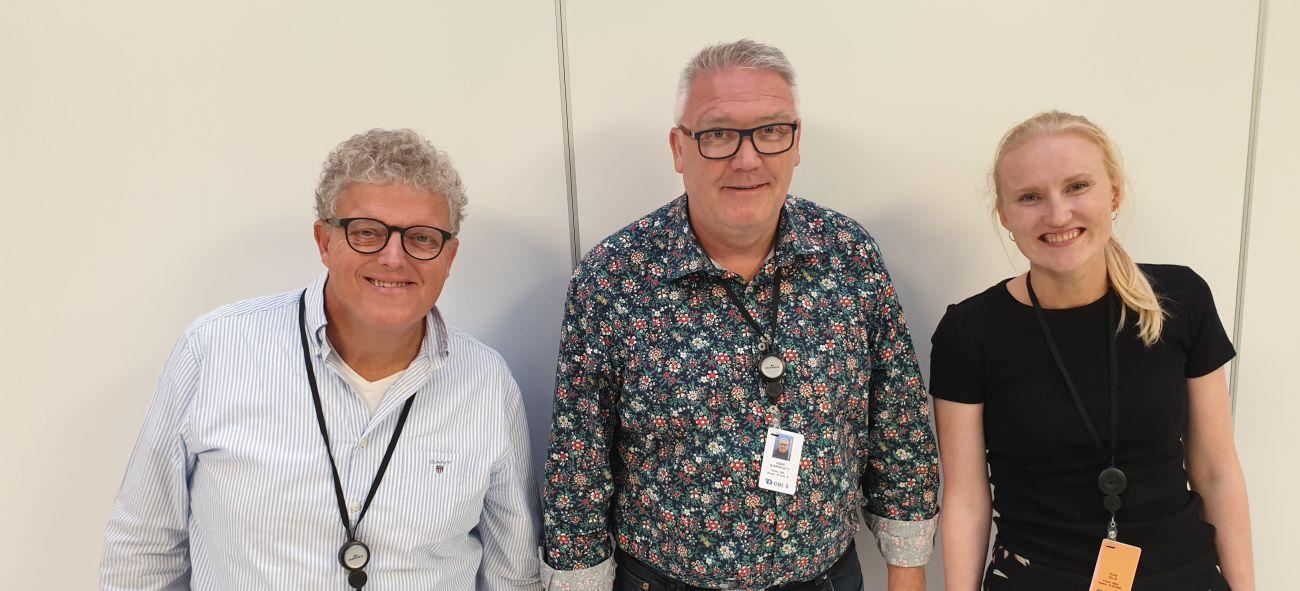 Bilde av tre ansatte