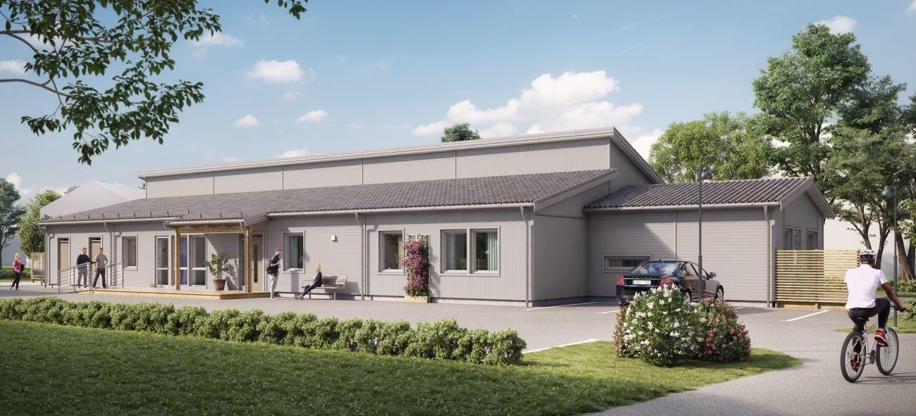 OBOS LLS-koncept bild på grått hus