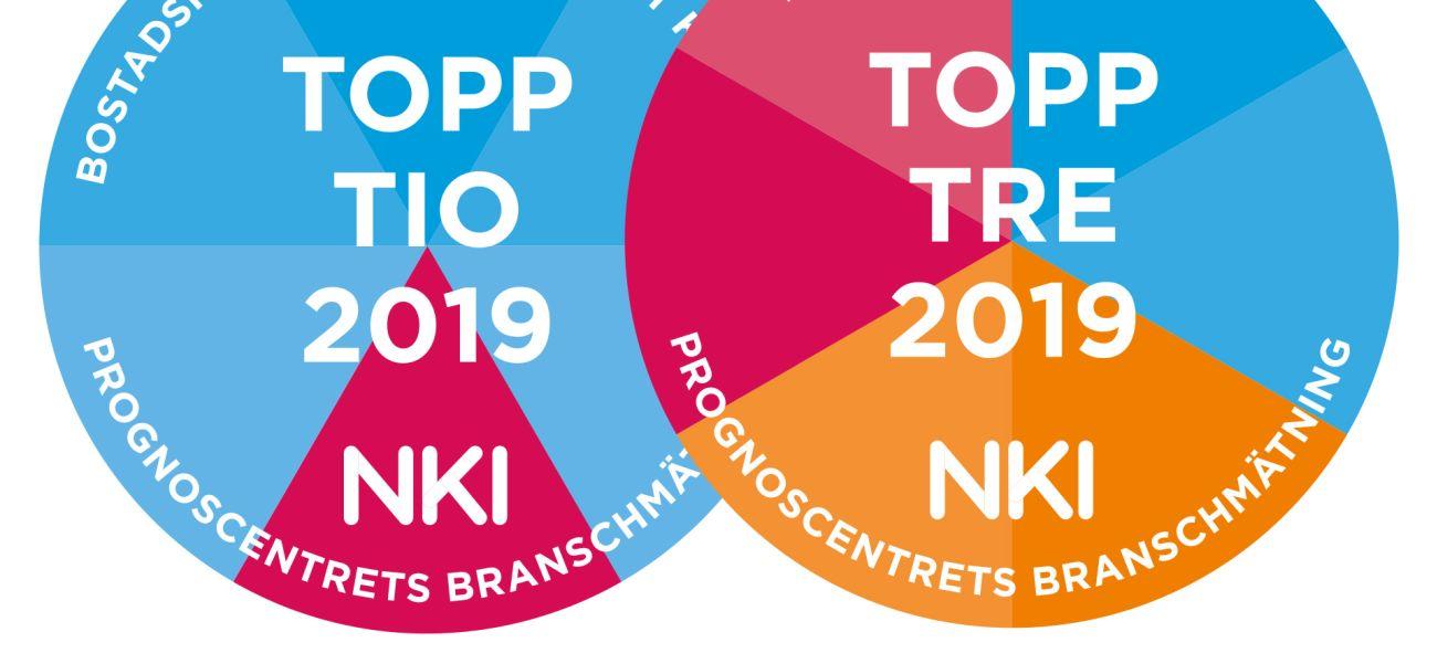 en logotyp som visar nki index 2019