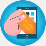 Illustrasjon av medlemsbeviset på mobil