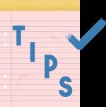 """Illustrasjon av en notatblokk hvor det står """"Tips""""."""