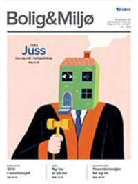 Illustrasjon av dommer med klubbe og hode som et hus