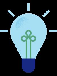 Illustrasjon av en glödlampa