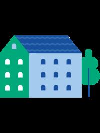 en ikon som visar ett oboshus
