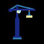illustrasjon av en kran på byggeplass