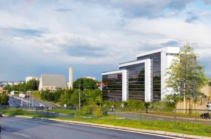 Bilde av fasaden på Byggveien 8