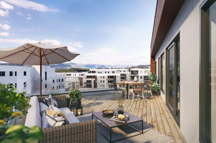 Illustrasjon av terrasse hus 5