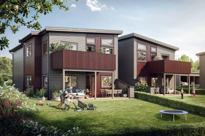 Illustrasjon av fasade hus 35-37