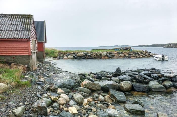 Foto av båthus