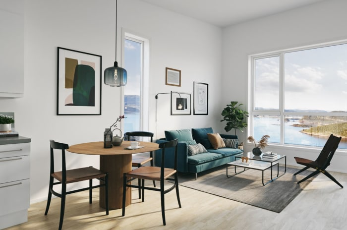 Illustrasjon av stue