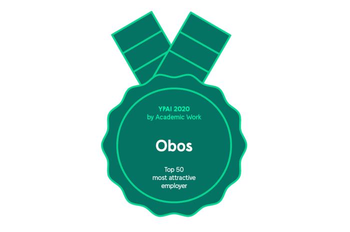 OBOS kåret til en av de 50 mest attraktive arbeidsgivere i 2020 av Academic Work