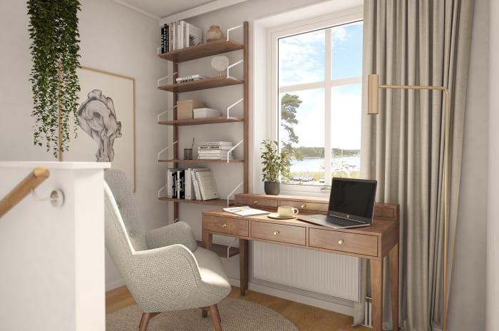 Typisk interiör i projektet Brf Nordanskog som OBOS bygger i Östergötaland